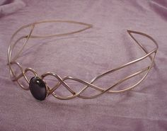 GOLD CELTIC//ELVEN TRIPLE WEAVE CIRCLET CROWN WILL FIT MAN OR WOMAN SCA THRONES