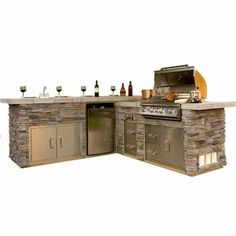 Gourmet-Q Grill Island - Stone from Family Leisure