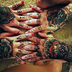 hand tattoo | Tumblr