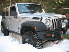 4 door Jeep Wrangler Rubicon seeing snow action 4 Door Jeep Wrangler, Jeep Tj, Jeep Rubicon, Jeep Truck, Wrangler Jk, My Dream Car, Dream Cars, Jeep Unlimited, Jeep Parts