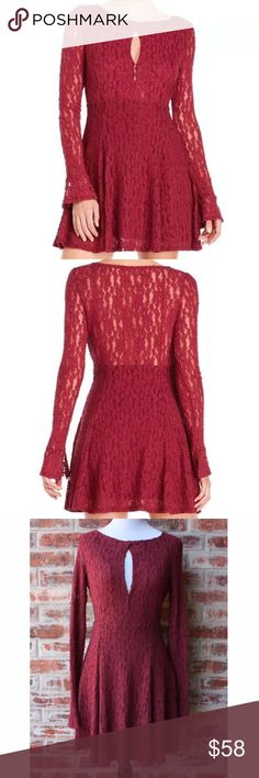 """NWT Free People Teen Witch Dress Plumeria Small Beautiful brand new with tags Free People Teen Witch dress in Plumeria, size small. Bust 16"""" across armpit to armpit without stretching and length is 32.5"""". Free People Dresses Long Sleeve"""