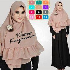 Jilbab Khimar Kayanna Rempel  http://bundaku.net/pakaian-wanita/jilbab/jilbab-khimar-kayanna-rempel