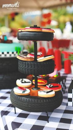 Clever gift wrapping idea for a Disney Cars birthday party See more