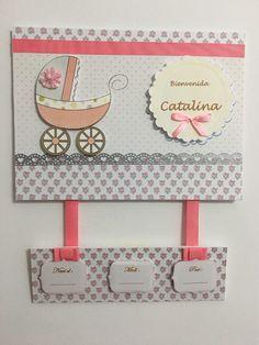 Cartel De Bienvenida Nacimiento Bebe Nena Puerta Clinica  - $ 400,00