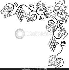 Vector of Grape vine design element