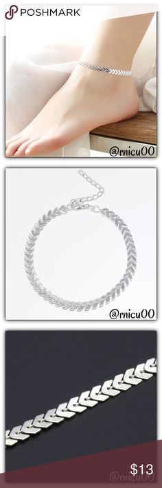 """Boho Arrow Silver Popular Ankle Arm Bracelet! Time for Fun Spring/Summer Fashion Accessories! On that List are Ankle Bracelets & Barefoot Sandals! This Bracelet is So Popular! On Trend, Boho Style, Silver Plated Arrow Ankle or Arm Bracelet! Adorable with Sandals or on the Beach!   ➖Prices Firm, Bundle for Discount ➖""""Trade"""" & Lowball Offers will be ignored ➖Sales are Final, Please read Description & Ask Any Questions! Boutique Jewelry Bracelets"""
