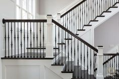 Stonecroft homes equestrian lakes louisville custom builder Wrought Iron Stair Railing, Staircase Railings, Staircase Design, Stairways, Banisters, Iron Balusters, Wood Stairs, Custom Home Builders, Custom Homes