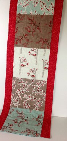 Winter Table Runner Rustic Quilted Table Runner by CoolSpool