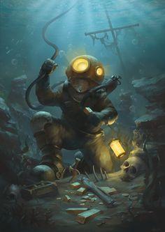 ArtStation - Underwater, Alexey Kruglov
