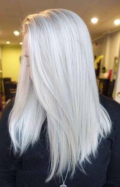 Platinum Blonde Hair Color, White Blonde Hair, Ice Blonde, Gray Hair, Short White Hair, Lilac Hair, Pastel Hair, Blonde Color, Blue Hair