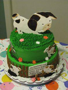 Poky Little Puppy Cake