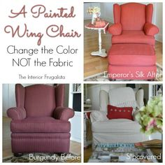 A Chalk Painted Wing Chair Before and After | The Interior Frugalista