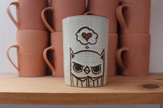 {Giant I heart owl coffee or tea mug} ha! cute :)