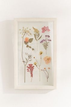 Slide View: 2: Pressed Floral 9x15 Frame