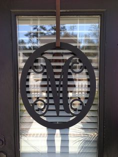Love a monogram and we need a new front door design :)