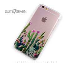 iPhone 7 Plus Case, iPhone 7 Case, iPhone 6 Plus Case, iPhone 6 Case, iPhone 6s Case, Clear Case, Galaxy Cases, Galaxy S7 Case, Cactus Case by Suite7Seven on Etsy https://www.etsy.com/listing/457532554/iphone-7-plus-case-iphone-7-case-iphone