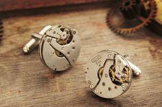 Geek cufflinks Men jewellery Found object by KfiatekGiftedHands, £20.00