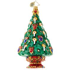 Christopher Radko Ornament 2016 | Radko Jeweled Spruce Christmas Ornament 1018613