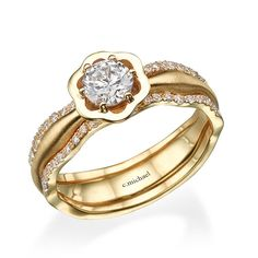 f0f3b3ff9d8 Engagement Band Diamond yellow ring 14K Yellow gold Ring Joias