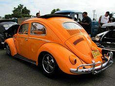 Nice orange VW beetle