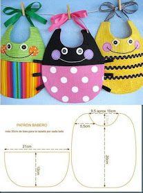 ARTESANATO COM QUIANE - Paps,Moldes,E.V.A,Feltro,Costuras,Fofuchas 3D: 4 moldes novos: Babador, toalha para bebê e capa de amamentação