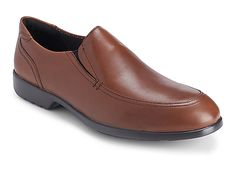 Total Motion Slip On from #RockportShoes, built with soft, premium materials for a glove like fit with no break in period, this men's dress shoe helps provide instant comfort and controlled flexibility.   #MensShoes #ADIPRENEbyadidas