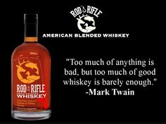 Rod & Rifle Whiskey Good Whiskey, Projects, Log Projects, Blue Prints