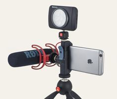 Glif 2 -   Accessories not included. Glif is a smartphone camera tripod adapter that will hold your camera and attach 3 devices to your setup. Price is nice too!