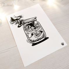 Produit breton - Dessin - Illustration - Créative Cards, Canning Jars, Drawing Drawing, Maps, Playing Cards