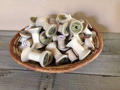 Vintage thread spools lot by Atailoredhome89 on Etsy