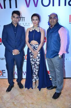 Vishesh, Sana Khaan and Larsen at the I Am Woman event
