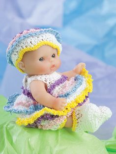 "http://www.maggiescrochet.com/products/lots-to-love-cute-as-pie-5-doll-clothes Picture of Lots to Love® Cute as Pie 5"" Doll Clothes"