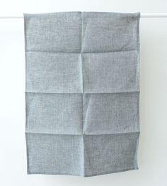 Fog Linen Tea Towel   Beach Blue