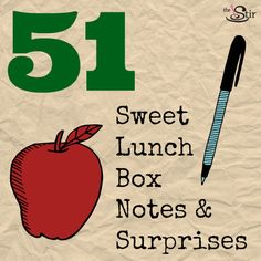 Love these cute ways to sneak a fun little surprise in your child's lunch box!