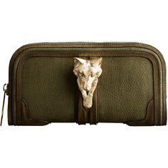 Country Animal Suede Nubuck Clutch as seen in the Burberry Prorsum Womenswear A/W12 show #LFW (clutch embellishments - could occur throughout bags -  do bags as collections - run through clutch to shopper)
