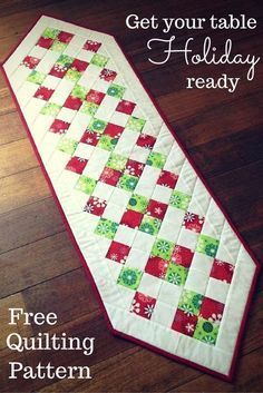 Ideas For Patchwork Table Runner Tutorial Place Mats Christmas Runner, Simple Christmas, Christmas Crafts, Christmas 2015, Christmas Sewing, Quilted Table Runners Christmas, Christmas Tables, Coastal Christmas, Silver Christmas