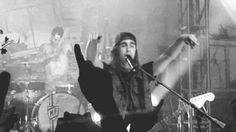Pierce the veil dedicates hold on till May to Mitch Lucker. Gif. I started crying when he salutes