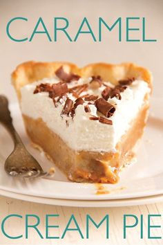Caramel Cream Pie and other pie recipes 13 Desserts, Brownie Desserts, Delicious Desserts, Yummy Food, Sweet Pie, Pie Dessert, Pie Recipes, Dessert Recipes, Cookies Et Biscuits