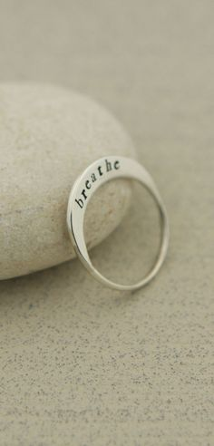 Sterling Silver Breathe Ring