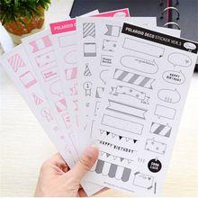 6 Sheets DIY Kalender Foto Papier Aufkleber Scrapbook Tagebuch Planer Dekor-freies Verschiffen(China (Mainland))