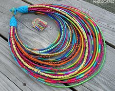 OOAK custom length Crazy Fibers statement necklace