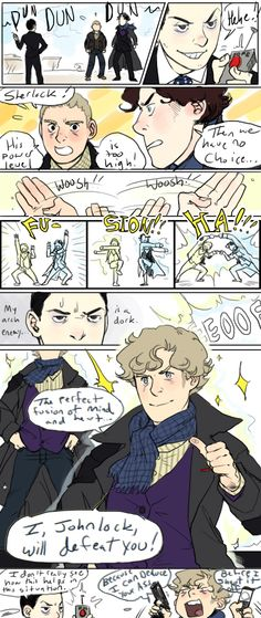 I am laughing so hard right now. My new superhero, Johnlock! (If you can call him that way) Sherlock Fandom, Sherlock John, Sherlock Holmes John Watson, Sherlock Quotes, Funny Sherlock, Jim Moriarty, Sherlock Anime, Sherlock Poster, Sherlock Season