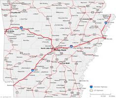 Arkansas Was The Th State In The USA It Became A State On June - Little rock usa map