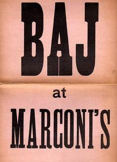 BAJ Enrico, Baj at Marconi's. Milano, Studio Marconi, 1967