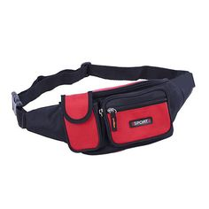 Men Nylon Outdoor Sport Waist Bag Running Fishing Waist Bag