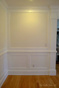 How to create a paneled wall treatment