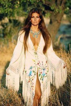Raquel hippie style ~ one of the world's most beautiful women. Period.
