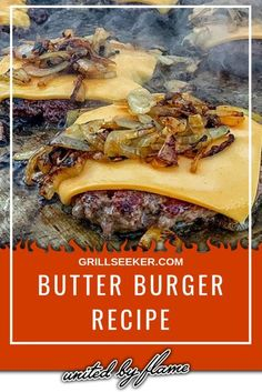 grilling recipes This recipe for Butter Burgers is the easiest way to step up your homemade burger game! These burgers are easy to make at home, work great on the grill or indoors on the griddle. Grilled Burger Recipes, Best Burger Recipe, Gourmet Burgers, Beef Recipes, Cooking Recipes, Grill Recipes, Recipes Dinner, Grilling Burgers, Tasty