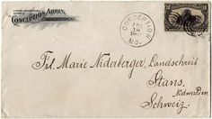 "10 C. Trans mississippi exhibition 1898 on superb envelope ""CONCEPTION ABBEY"" to the Switzerland. Michel no. 122"