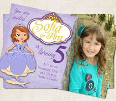 Sofia the First Birthday Party Invitation